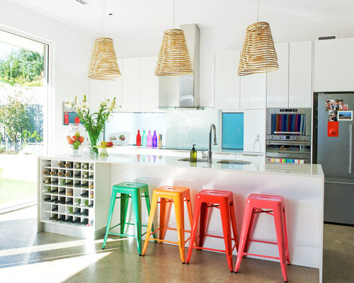 Bright kitchen stools
