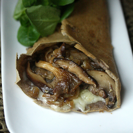 Phoebe lapine buckwheat crepes with wild mushrooms and gruyere h