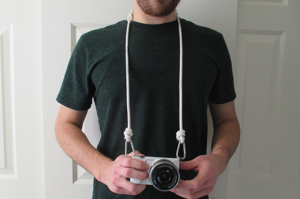 Camera strope with rope