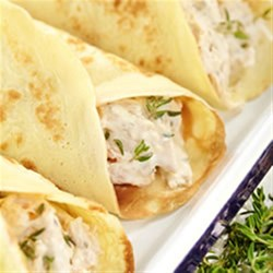 Chicken and cheese crepes