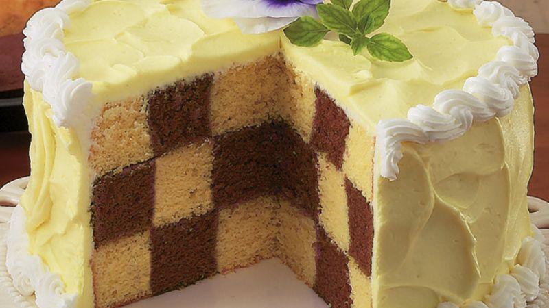 Chocolate checkerboard cake recipe