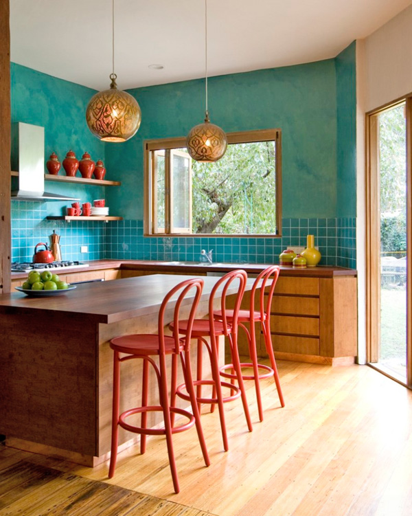 Bright Kitchens 25 colorful kitchens to inspire you