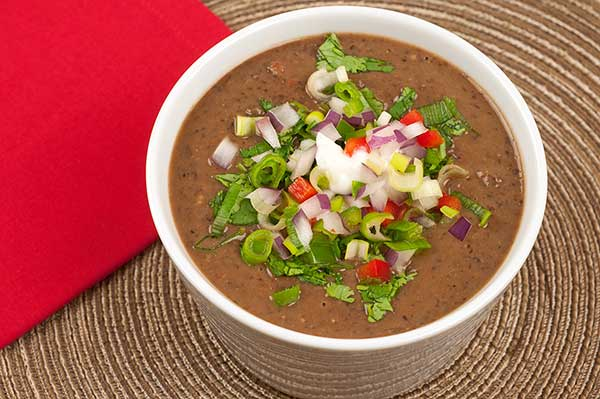 Cuban style black bean soup