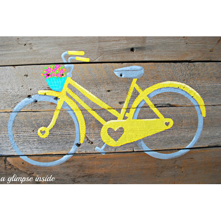 Diy bike pallet art