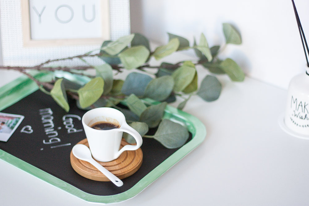 Diy blackboard tray set