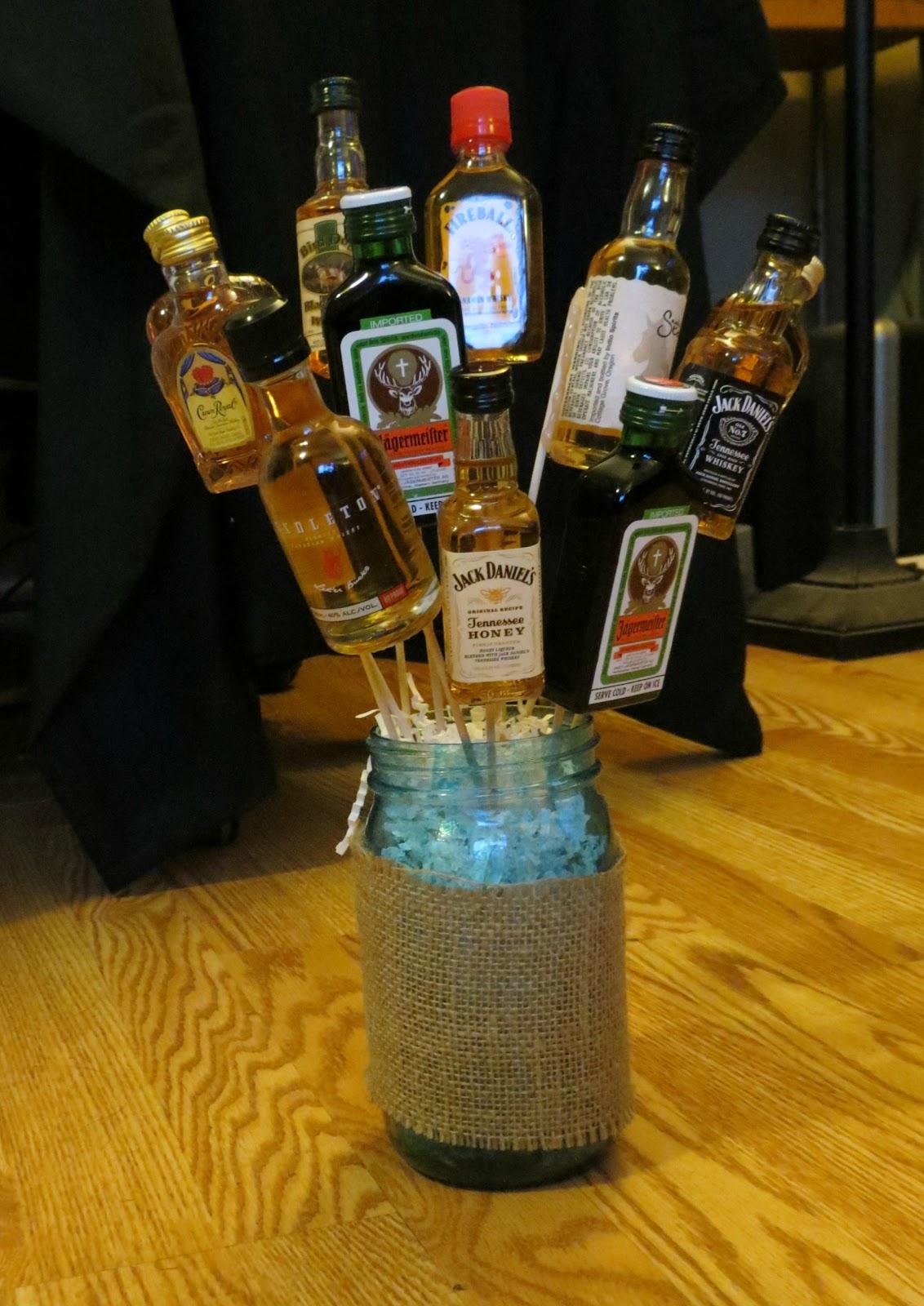 Diy booze bouquet