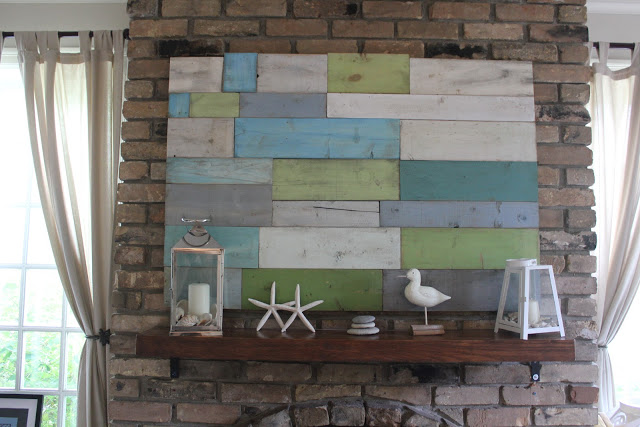 Diy colorful pallet wall art