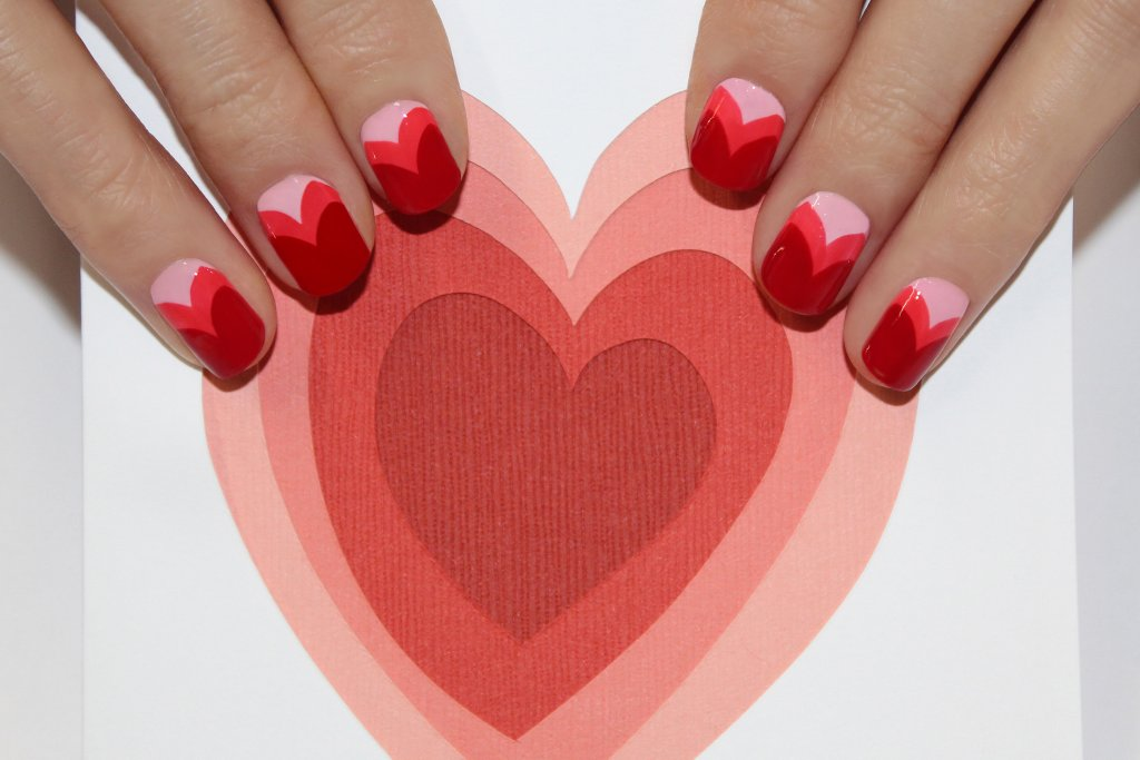 Diy heart layer nails