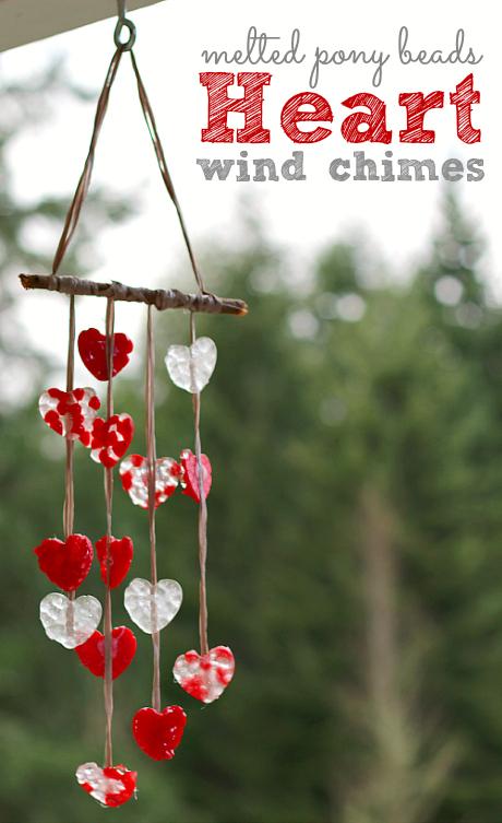 Diy heart wind chimes