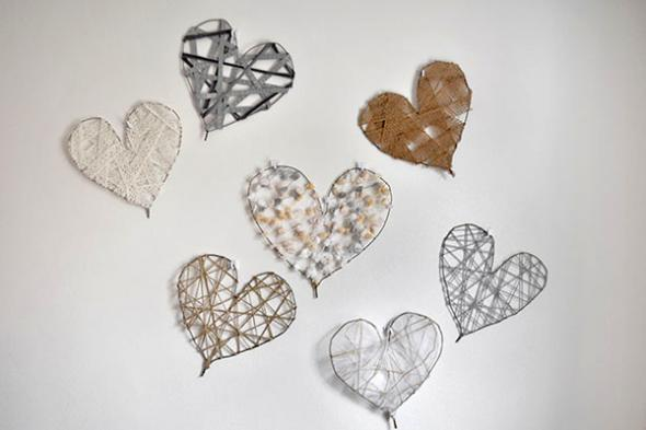 Diy heart wire art decor