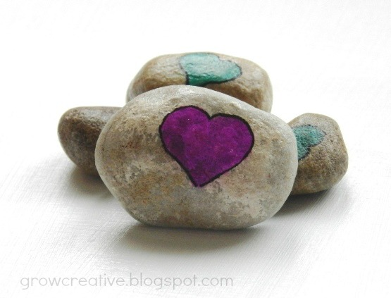 Diy love rocks