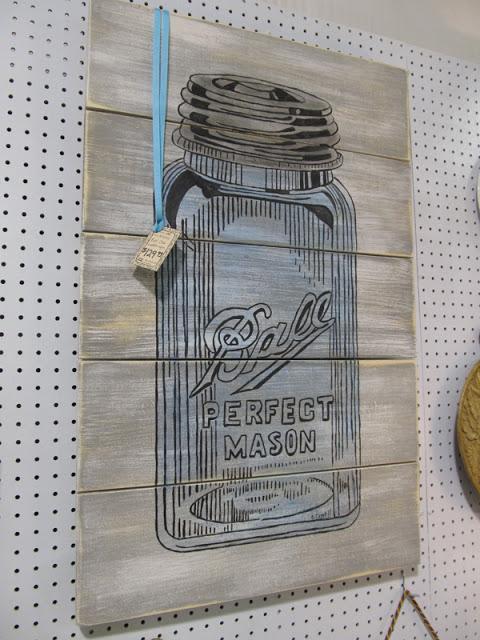 Diy mason jar pallet wall art