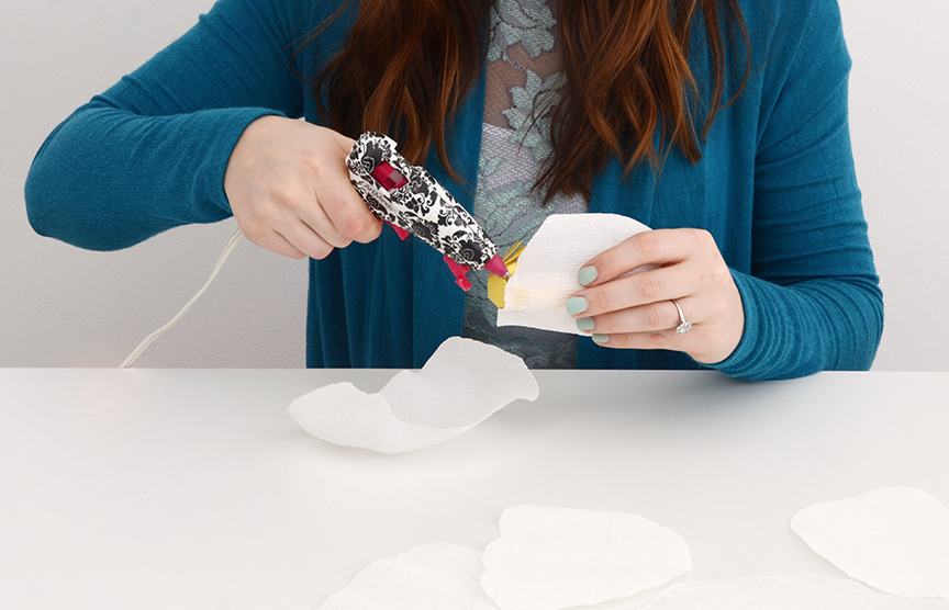 Diy paper flower step 4