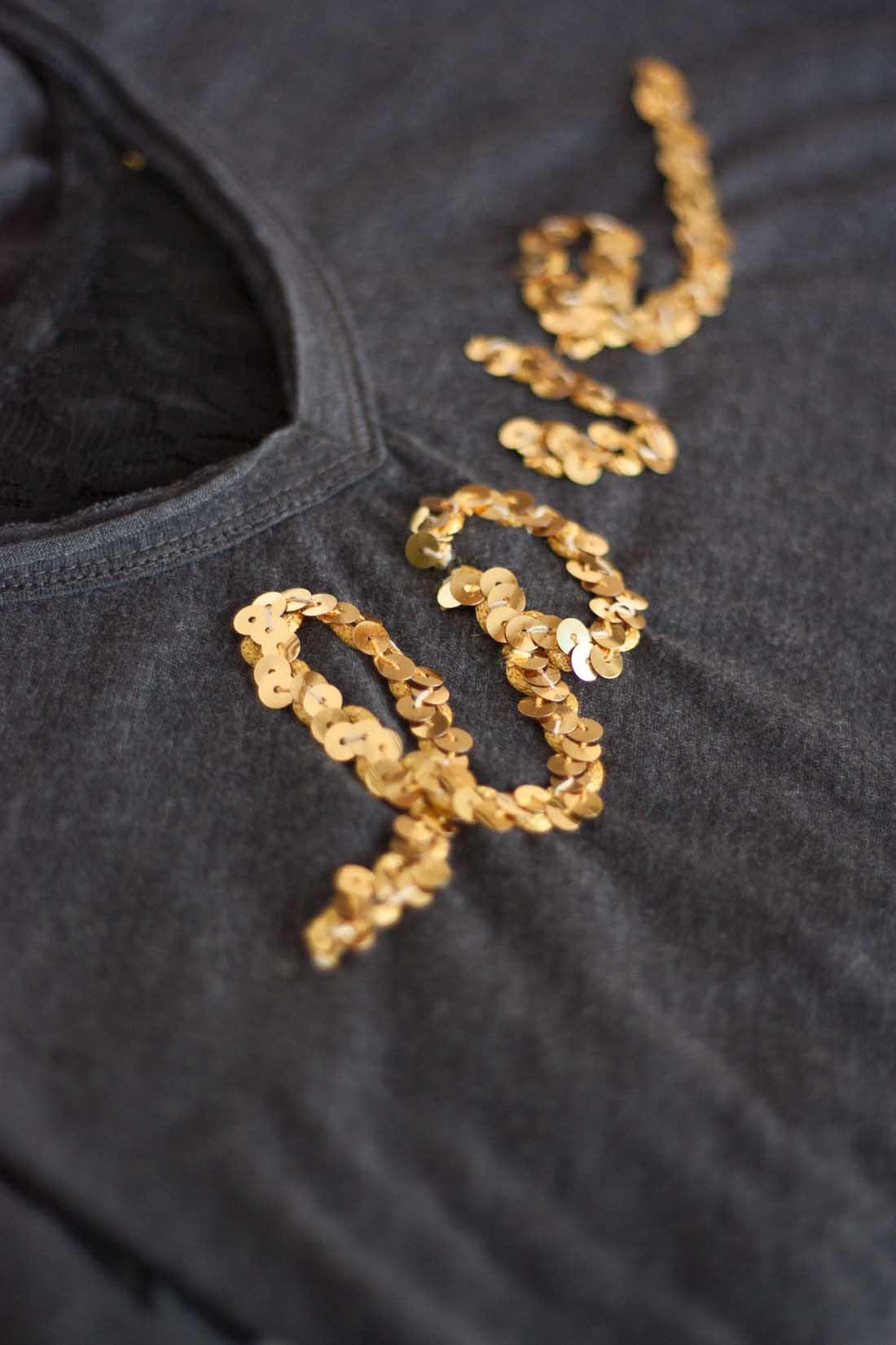 Diy valentines love sequin shirt set2