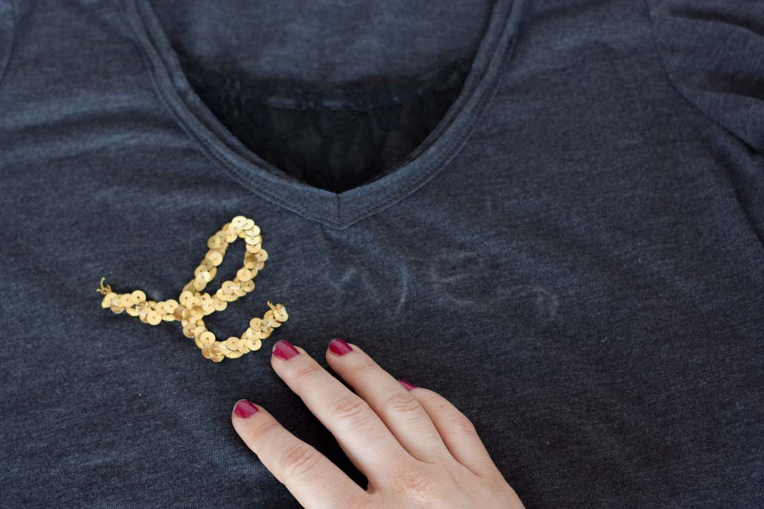Diy valentines love sequin shirt sew l
