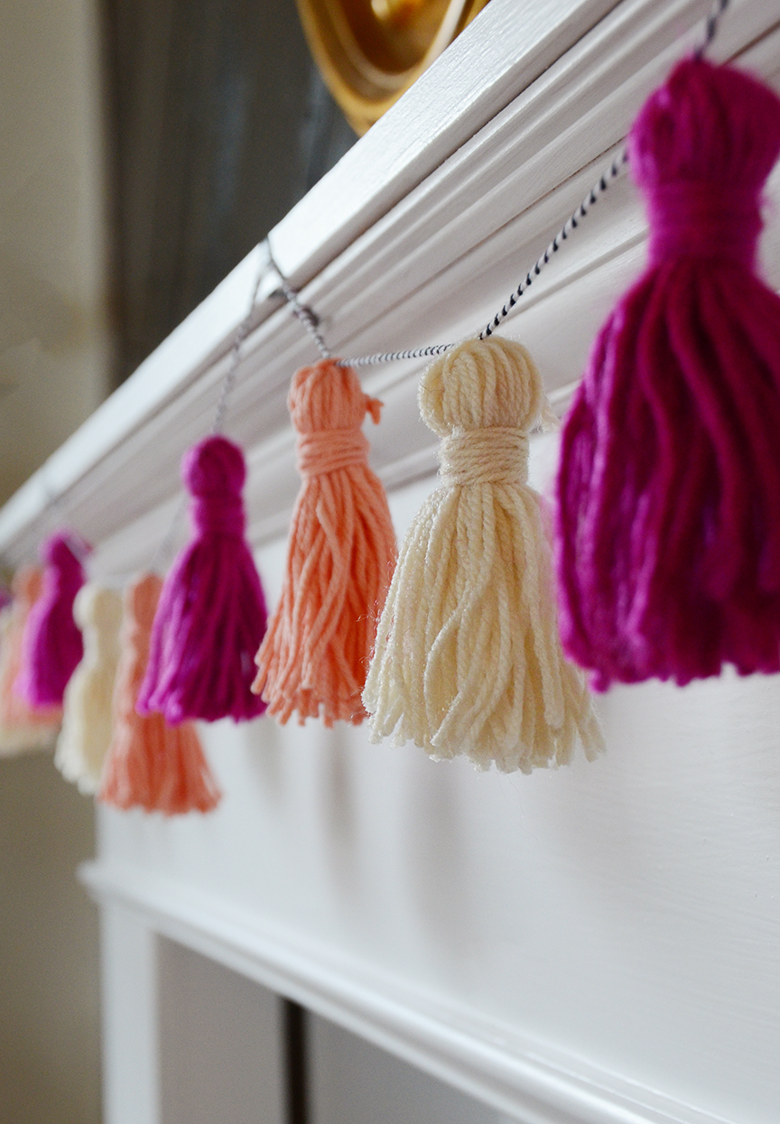 Diy valentines tassel garland final 4