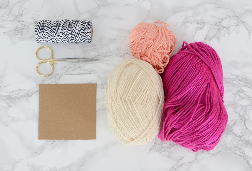 Diy valentines tassel garland materials