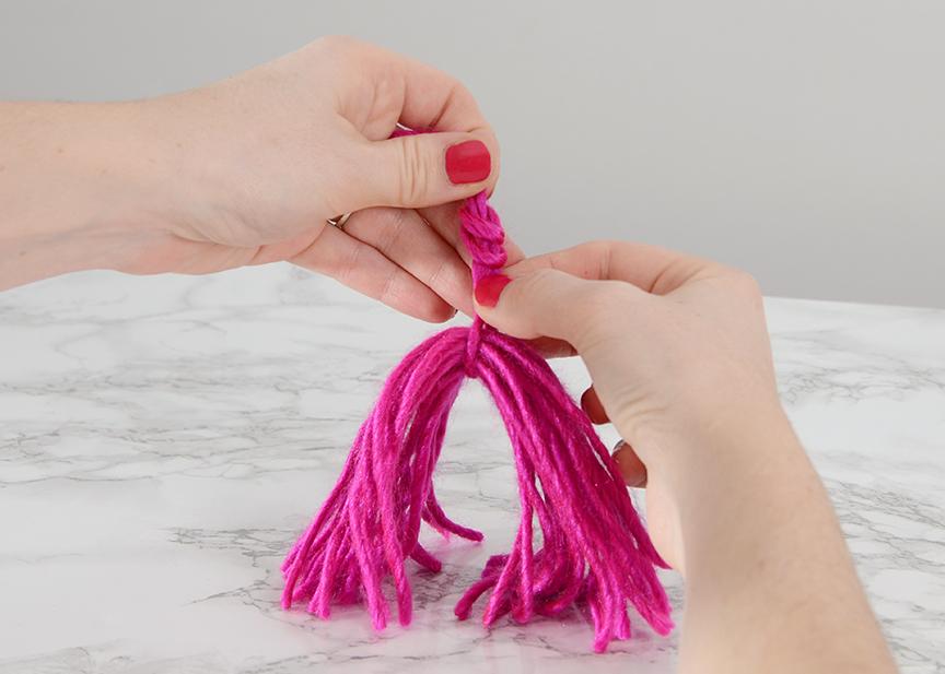 Diy valentines tassel garland step 3