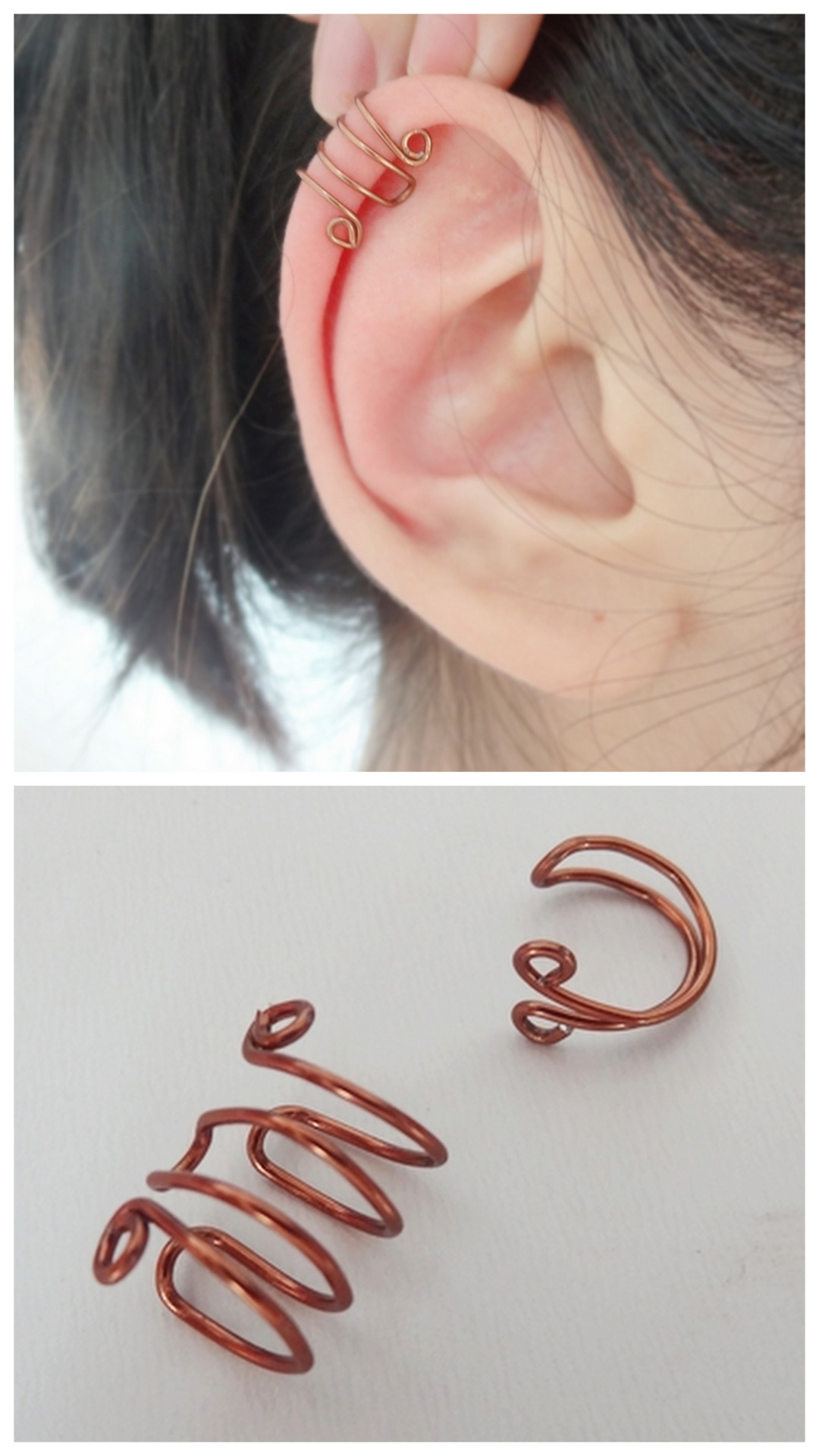 20 examples of amazing diy wire art projectsdiy wire ear cuff
