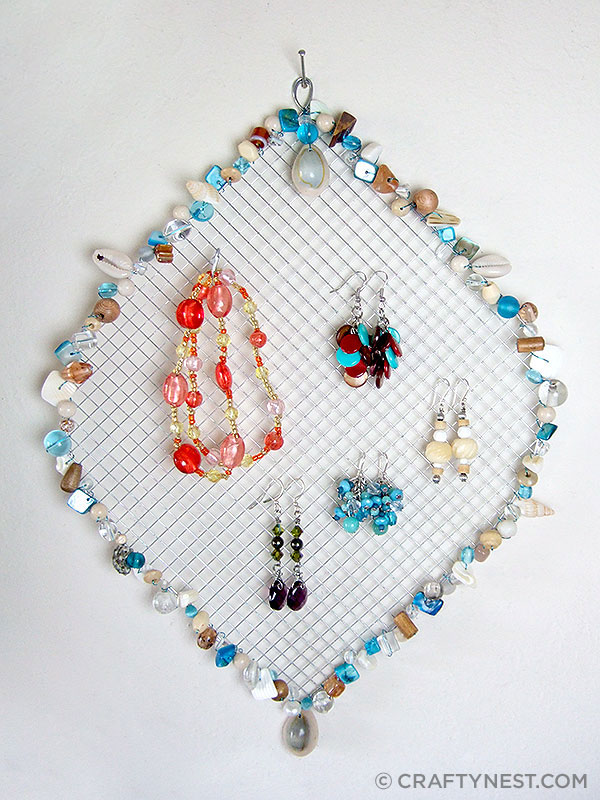 Diy wire jewelry holder