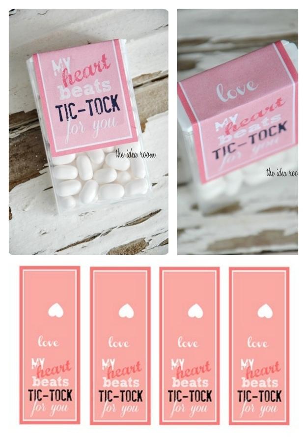 Tick Tock Valentine's Day Mints