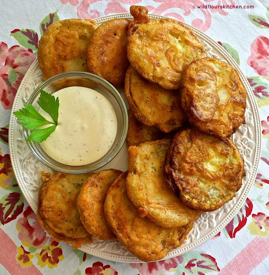 Fried zucchini beer batter