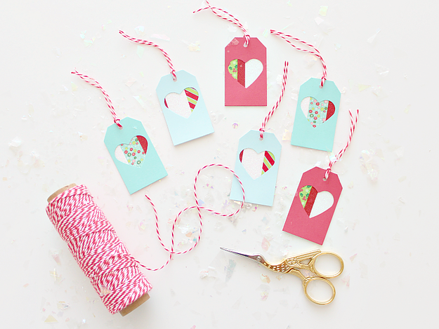 Gift tags with washi tape