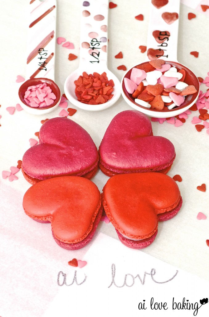 Heart shaped macaroons recipe
