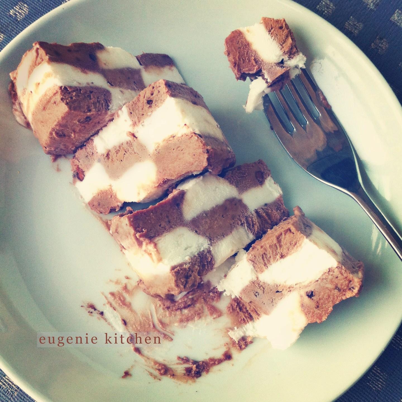 Ice cream checkerboard cake