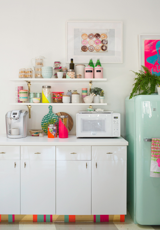 Neon colors kitchen
