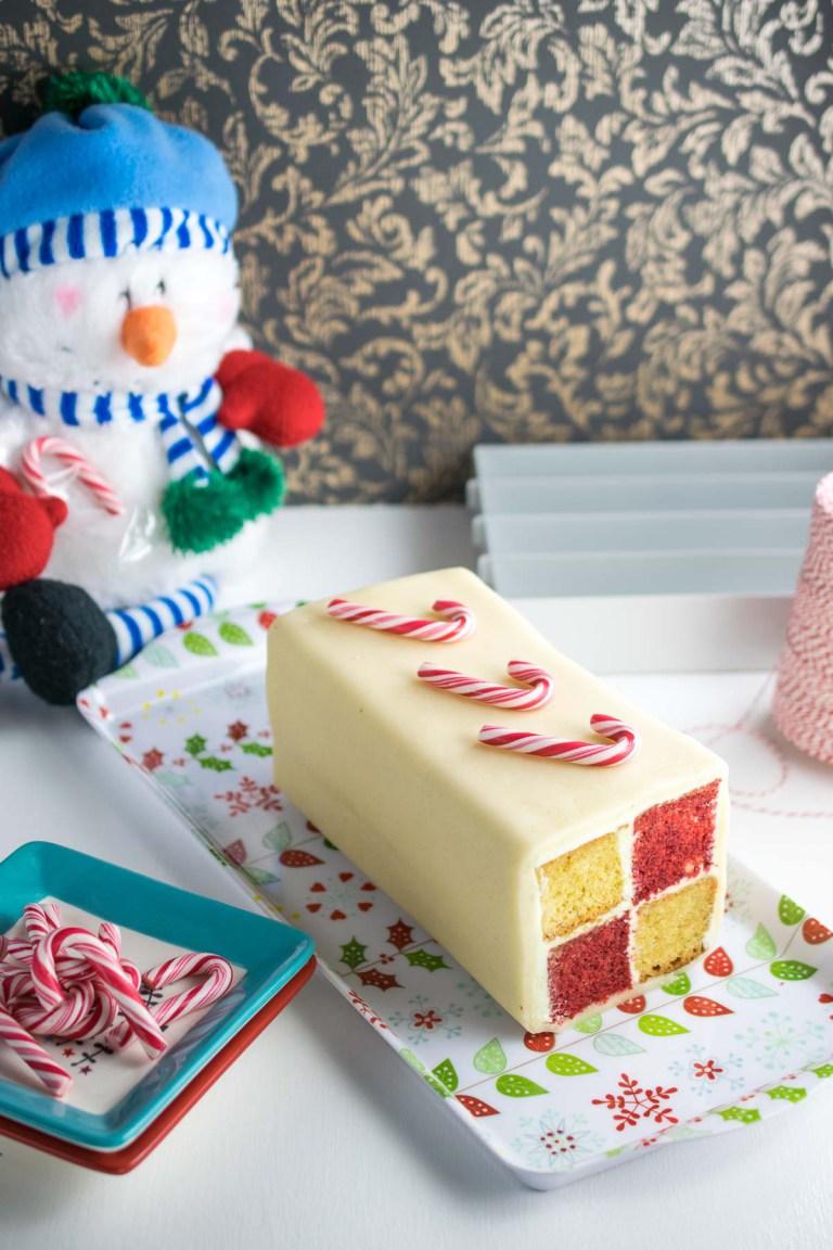 Peppermint battenburg cake recipe
