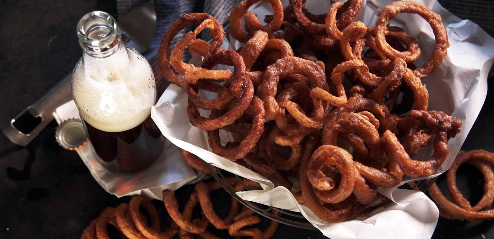 Recipe beer battered curly fries