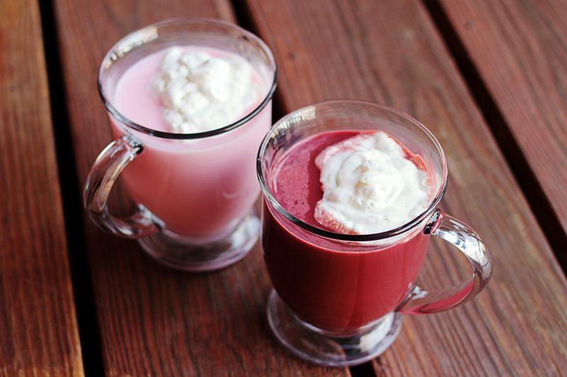 Red velvet pink hot chocolate recipe