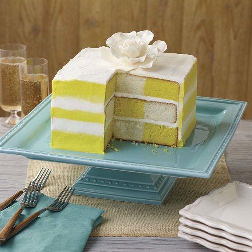 Sunshine stripes checkerboard cake