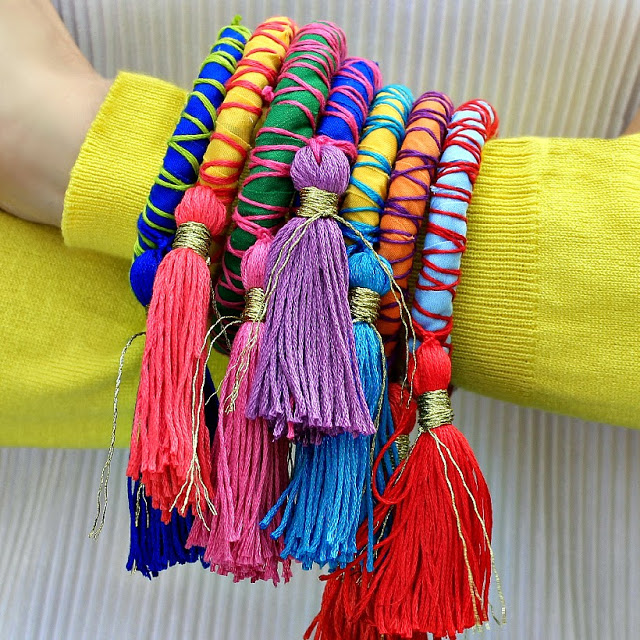 Tassel and rope bangles