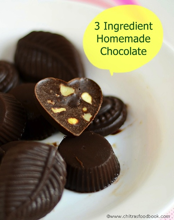 3 ingredient homemade chocolate