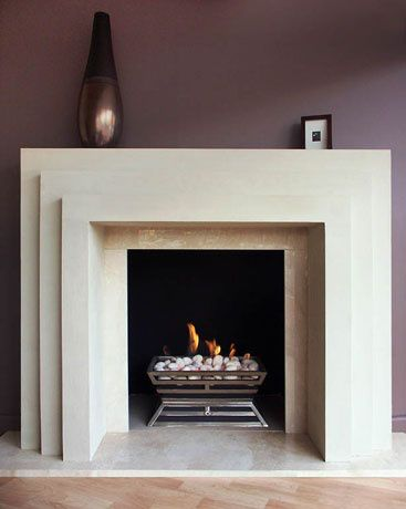 Art decor fireplace makeover idea