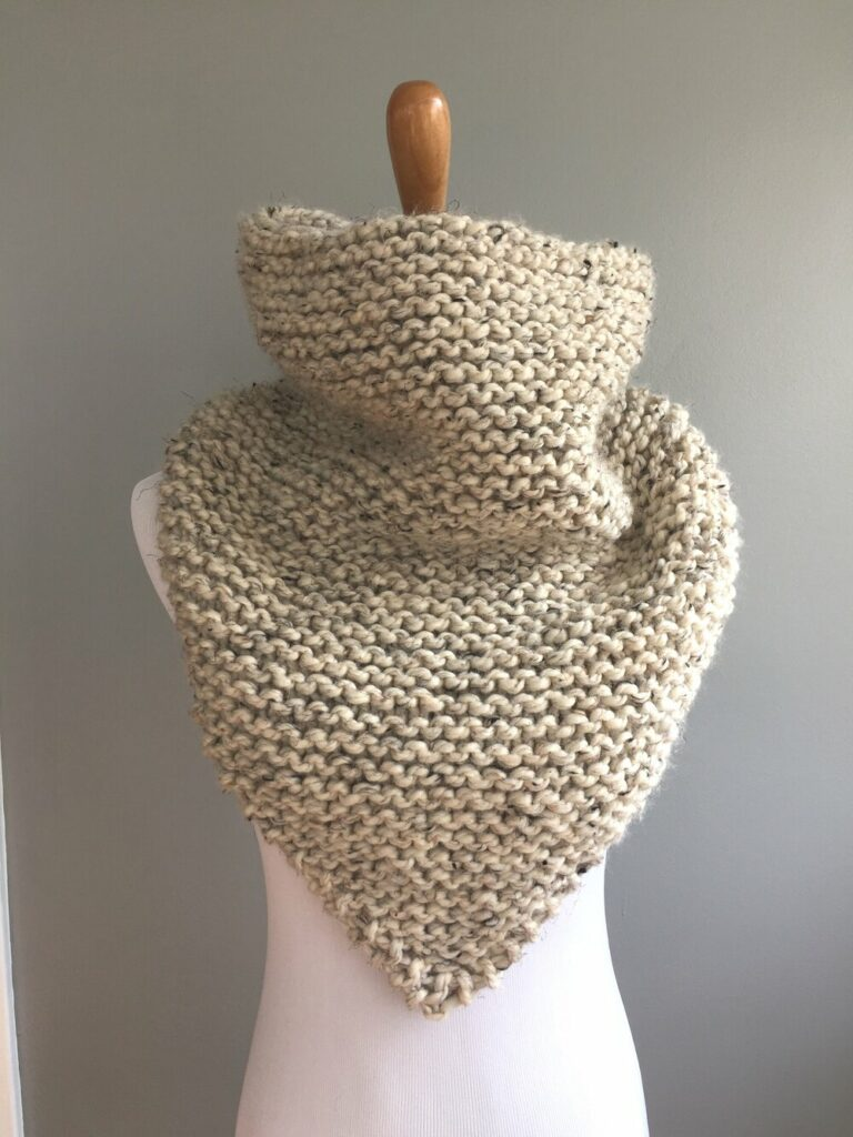 Bandana cowl scarf