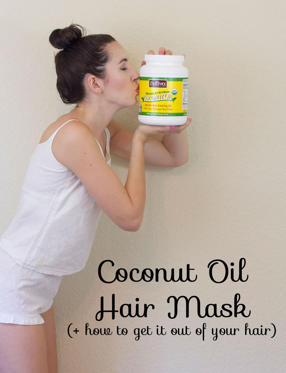 Basic coconut oil hair mask