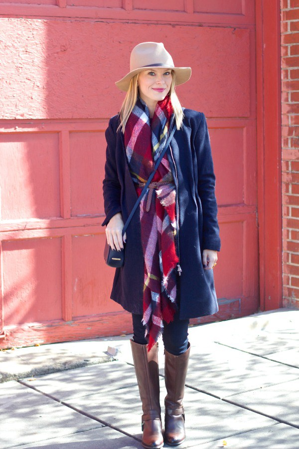 Belted blanket scarf idea