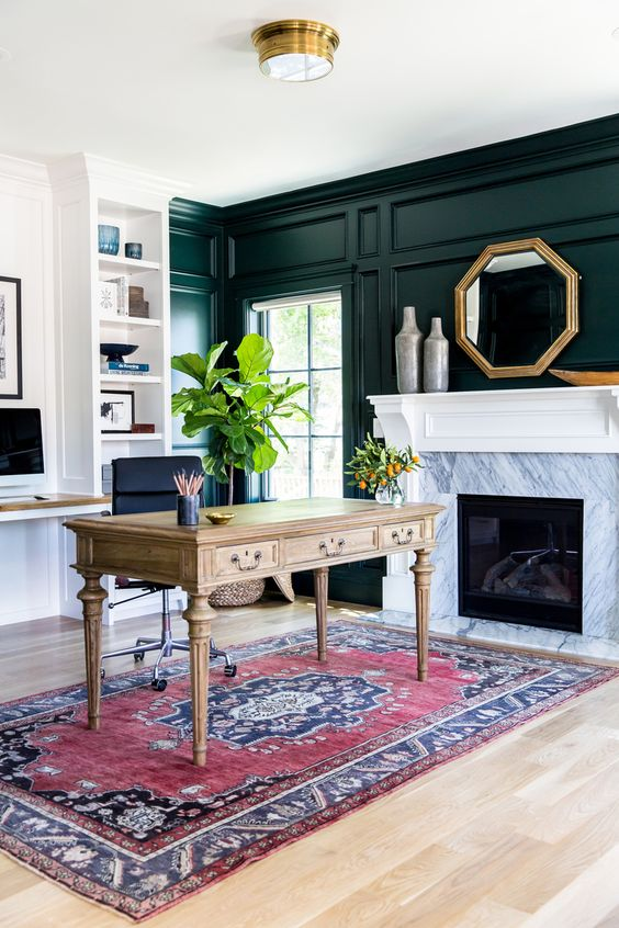 Black and white marble fireplace makeover