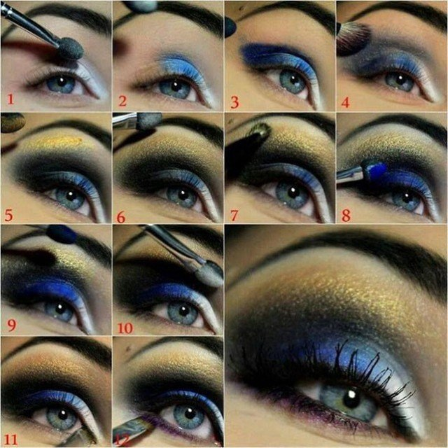 Blue and gold smoky night eye