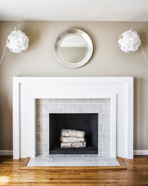 Chic fireplace makeover diy