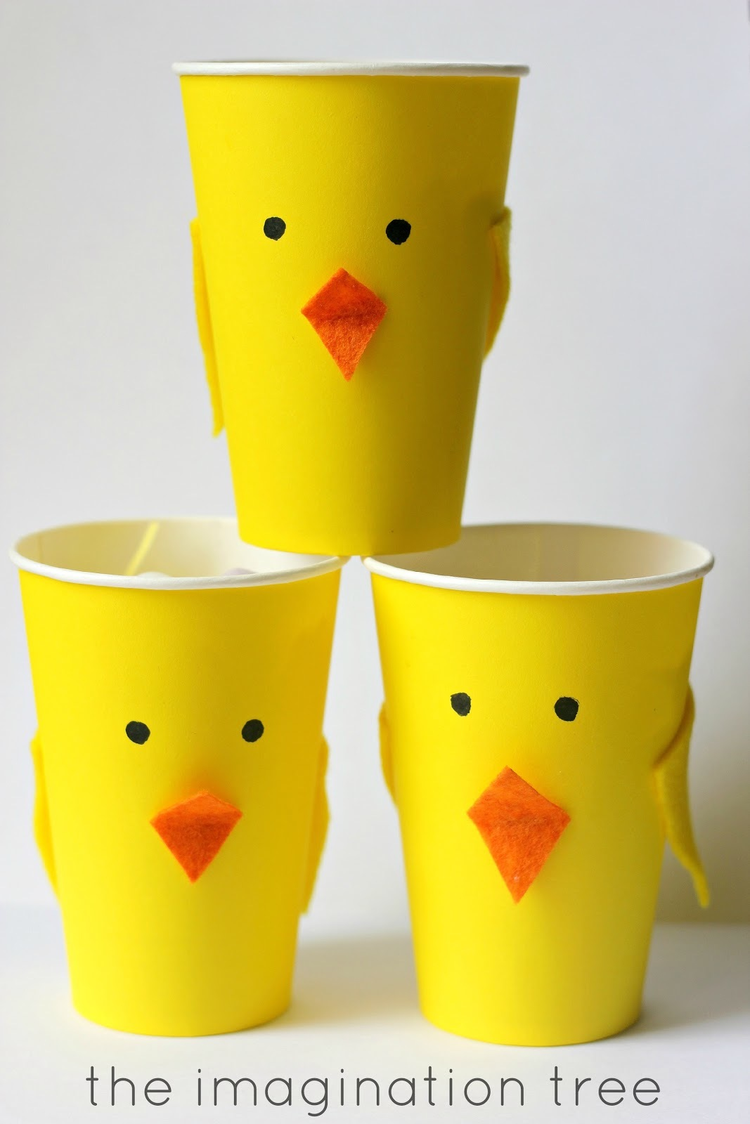 Chick easter treat cups