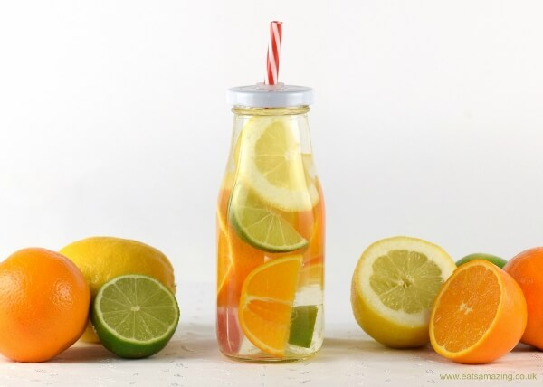 Citrus fruit infused water for kids