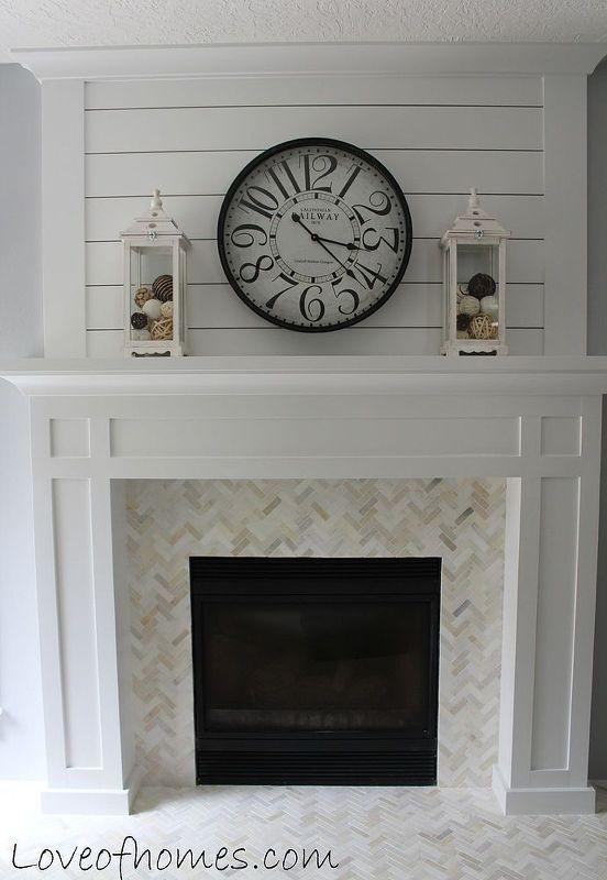 Clock decor fireplace design idea