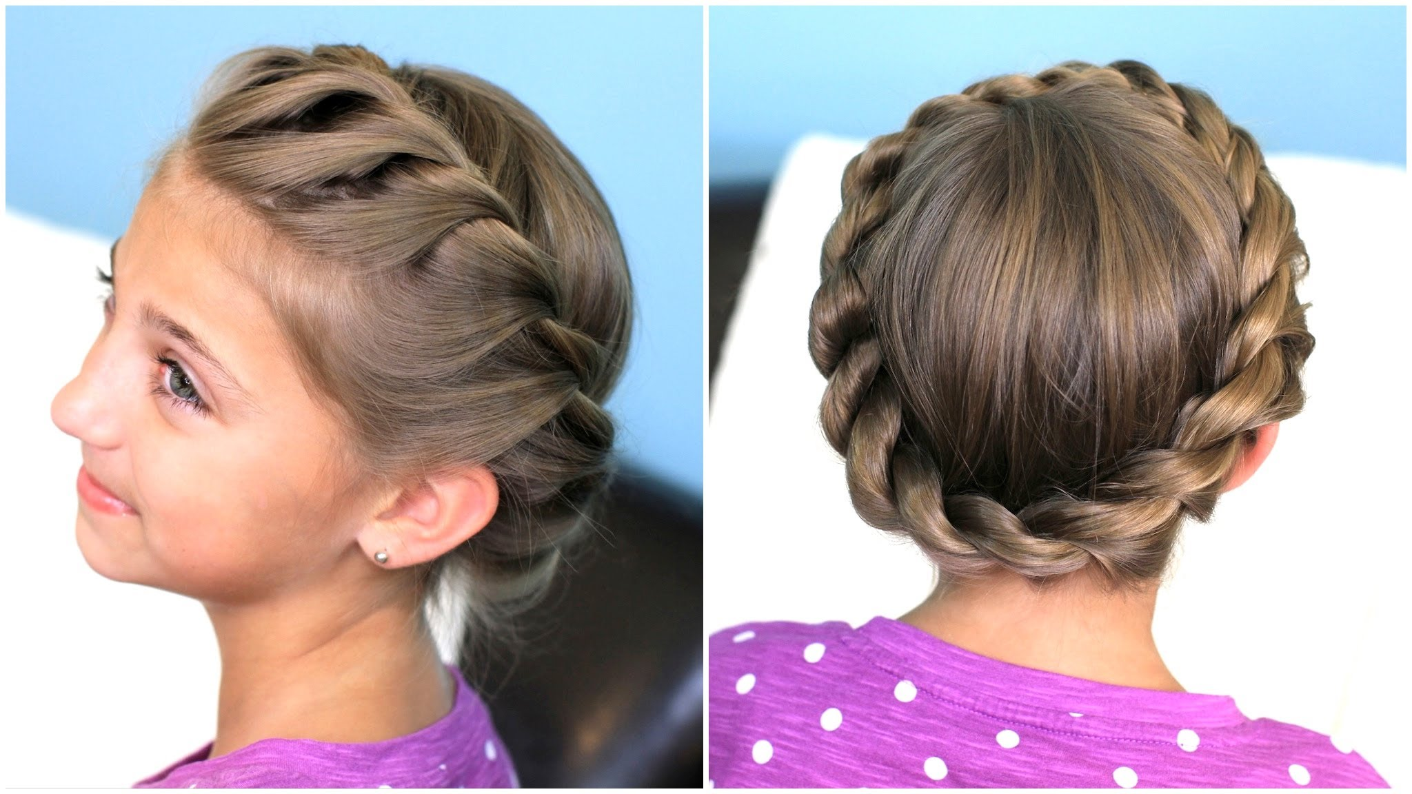 Crown twist braid