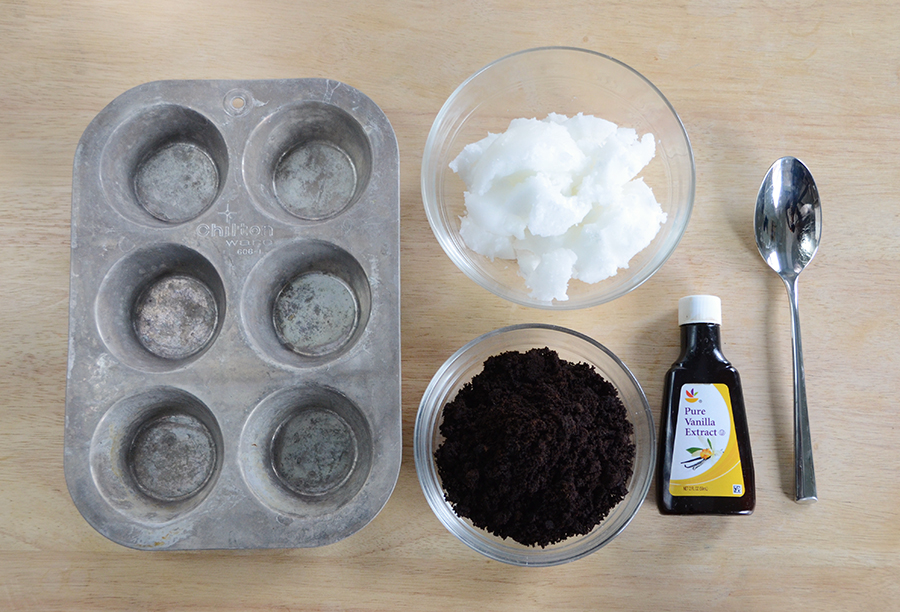 Diy coffee scrub bars materials