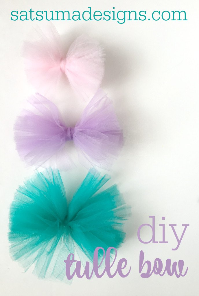Diy tulle bow idea