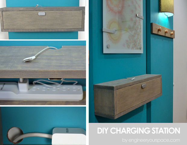 Diy charging mounted cabinets